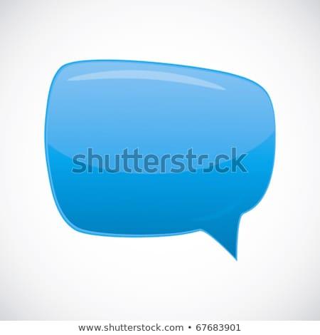 Speech bubbles - abstract lustrous vector background. Stock photo © OlgaYakovenko