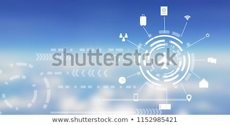abstract background with airplane stock photo © krabata