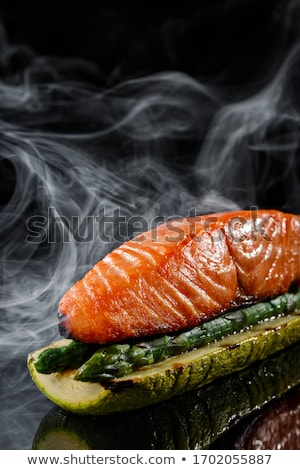 peace of roasted fish stock photo © fiphoto