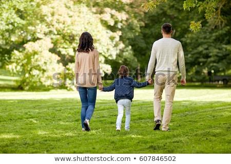 Сток-фото: пару · детей · родителей · улице · два · молодые