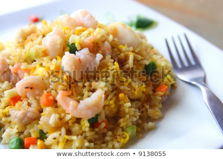 fried rice with shrimp close up stock photo © ruslanomega