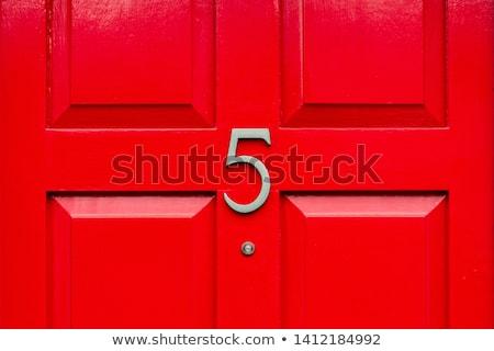 Ház szám öreg utca fából készült elöl Stock fotó © FER737NG