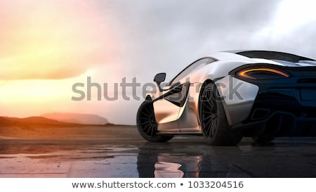 car sunset reflection stock photo © ia_64