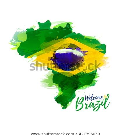brasil · ícone · cidade · construção · carimbo · cartão · postal - foto stock © hermione