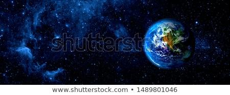 Stockfoto: Aarde · de · kosmische · ruimte · wereldbol · zonsondergang · ontwerp · wereld