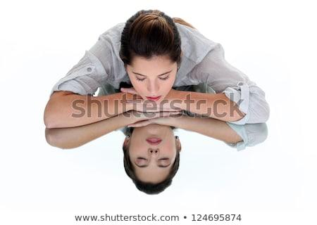 отражение · зеркало · портрет · стороны - Сток-фото © photography33