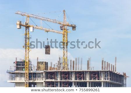 строительство · промышленности · производства · закат - Сток-фото © lunamarina