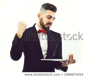 Zakenman teken sterkte man vergadering Stockfoto © Rugdal