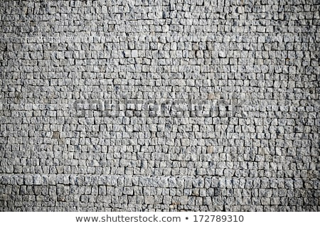 Grey Cobblestone Boulevard Background Texture Photo stock © homydesign