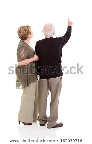 abuelo · senalando · familia · sesión · parque · dedo - foto stock © get4net