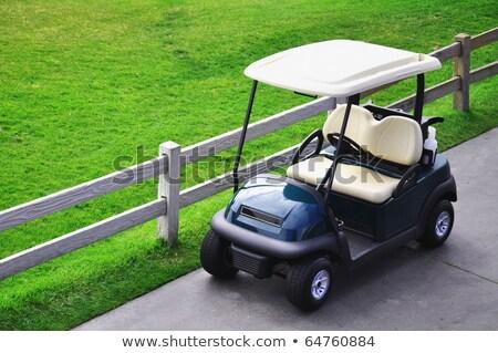 Foto d'archivio: Verde · golf · cart · vuota · campo · da · golf