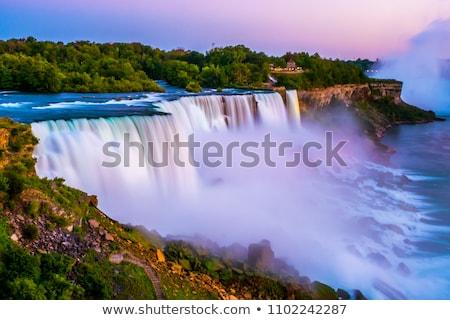 Niagara · vízesés · éjszaka · festői · kilátás · New · York · USA - stock fotó © stocker