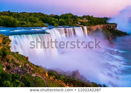 Niagara Falls nacht schilderachtig New York USA Stockfoto © stocker