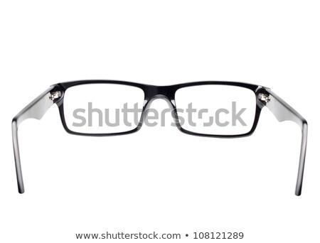 Szem szemüveg hátulnézet klasszikus fekete keret Stock fotó © Anterovium