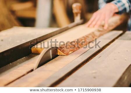 férfi · dolgozik · körkörös · fűrész · penge · öreg - stock fotó © photography33