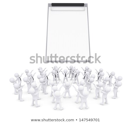 Group of white people worshiping checklist Stock photo © cherezoff