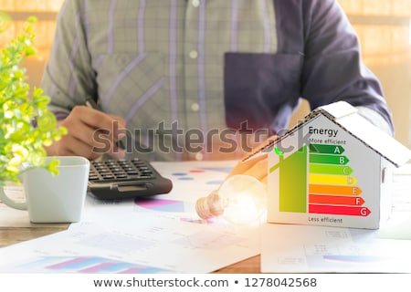 Foto stock: Enérgico · eficiência · alto · 3d · render · sete