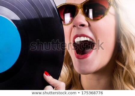 Vinyl disc LP with sunglasses Stock photo © pxhidalgo