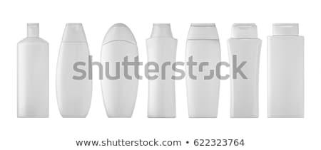Fles shampoo plastic flessen reinigingsproducten geïsoleerd Stockfoto © PetrMalyshev