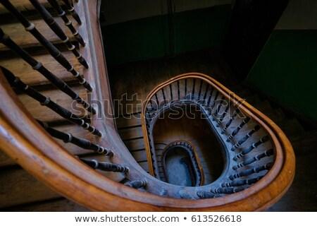 escada · sótão · luz · trabalhar · casa - foto stock © konradbak