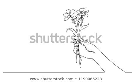 女性 手 花 バレンタイン 日 ストックフォト © dukibu