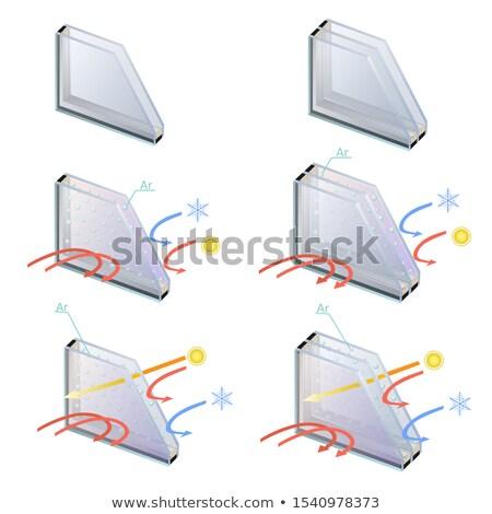Seção transversal janela atuação cortar mostrar Foto stock © smuki