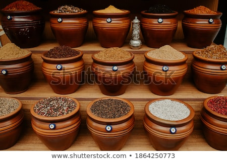 Baharatlar satış çanta ünlü pazar Stok fotoğraf © alexeys