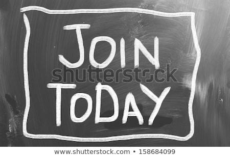 amanhã · hoje · pessoa · desenho · indicação · giz - foto stock © kbuntu