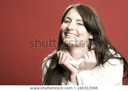 Vivacious beautiful woman in lingers Stock photo © stryjek