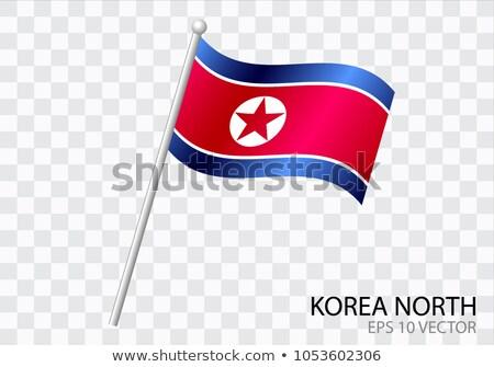 kuzey · parlak · kalp · şekli · bayraklar · demokratik · halklar - stok fotoğraf © boroda
