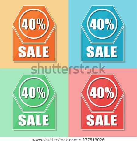 40 porcentajes venta cuatro colores iconos de la web Foto stock © marinini