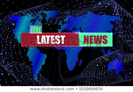 latest news on light blue in flat design stock photo © tashatuvango