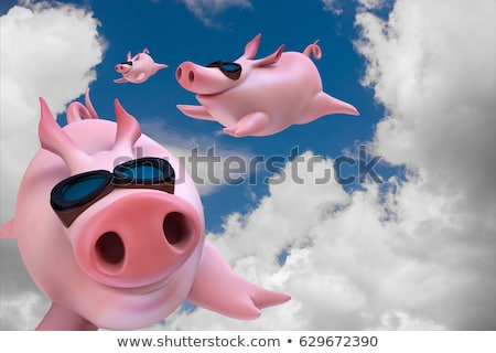 свиней лет Flying свинья синий Сток-фото © rpcreative
