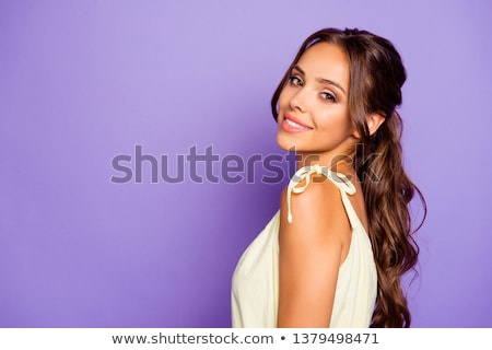 magnificent girl in white stock photo © reticent