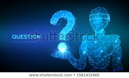 ロボット よくある質問 にログイン 技術 3次元の図 ストックフォト © Kirill_M