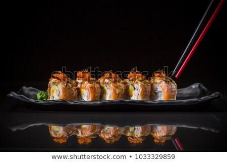 japán · sült · Seattle · étel · főzés · ebéd - stock fotó © keko64