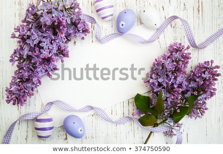 beautiful retro easter card with symbols of spring stock photo © voysla