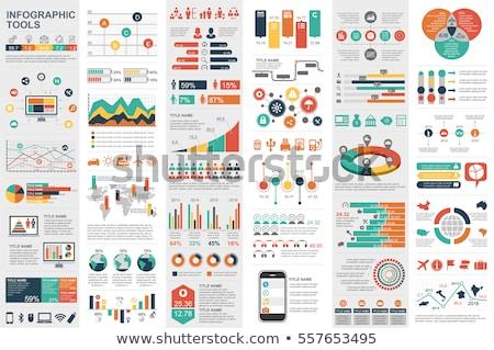 Infographics modern iş para kâğıt Stok fotoğraf © alescaron_rascar