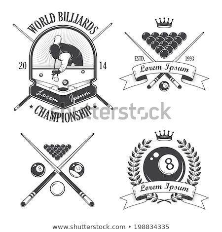 Ball and cue for billiard game Stock photo © LoopAll
