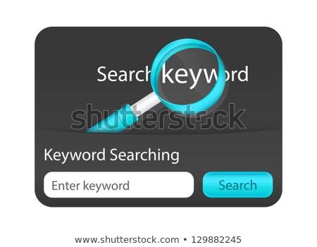 búsqueda · palabra · lupa · negocios · tecnología · signo - foto stock © liliwhite
