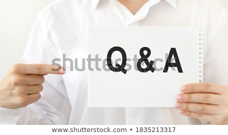 question sign and question words in flat blocks Stock photo © marinini
