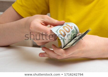 close-up of dollar a banknote flipping  Stock photo © OleksandrO