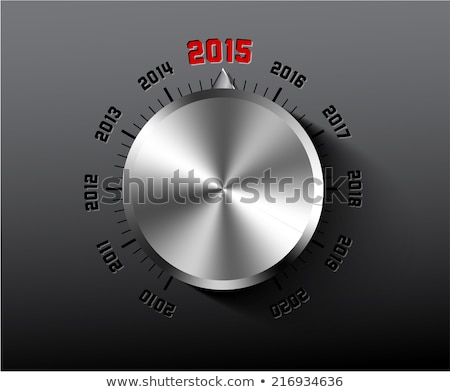 Vector 2015 New Year card with chrome knob Stock photo © orson