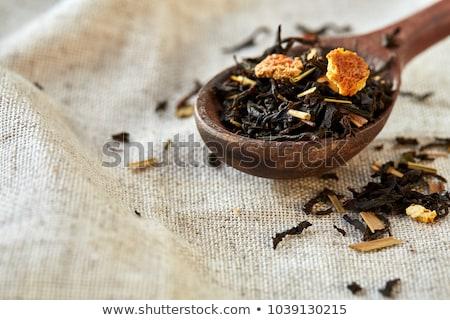 Dry tea in wooden spoon Stock photo © punsayaporn