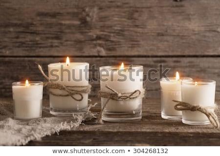 Ardor vela arpillera uno espacio tejido Foto stock © olandsfokus