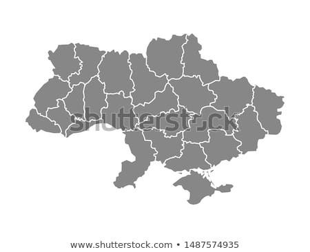 Mapa Ucrania diferente colores blanco negro Foto stock © mayboro1964