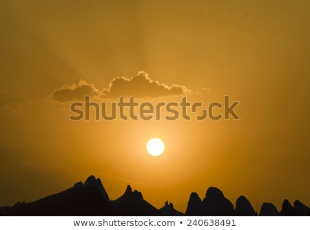 Guilin Lijiang River and mountains in spectacular sunset Stock photo © meinzahn