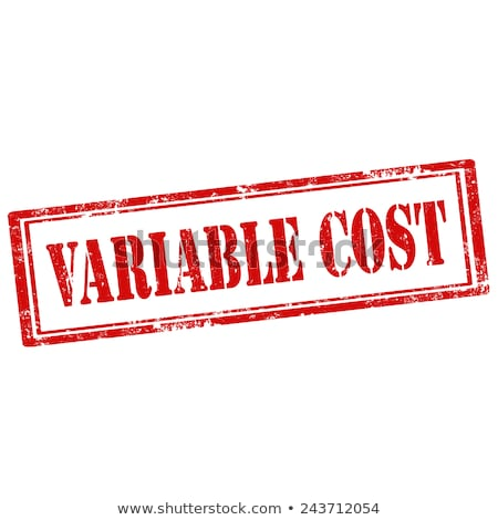 Variable Cost-stamp Stock photo © carmen2011