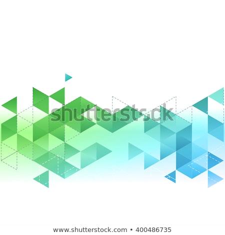 yeşil · üçgen · doku · beyaz · inşaat · soyut - stok fotoğraf © aliaksandra