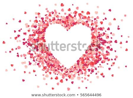 abstrato · brilhante · vermelho · coração · casamento · projeto - foto stock © mcherevan